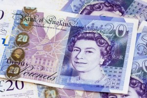 A picture of £20 notes
